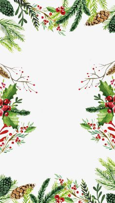 Holiday wallpaper backgrounds xmas new ideas Noel Christmas, Winter Christmas, Christmas Crafts, Christmas Decorations, Christmas Quotes, Christmas Ideas, Christmas Leaves, Christmas Border, Christmas Greenery