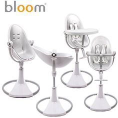 I am obsessed with Lolas Fresco Bloom Chrome High Chair