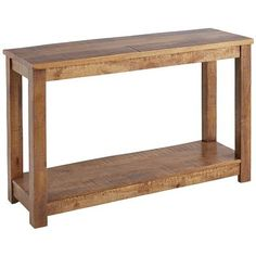 Our handcrafted hardwood console table has all the qualities of the original created at the Parsons School almost 90 years ago: Balanced proportions, straightforward lines and flush, squared-off legs. But we're bold enough to add some all-new features, including a bottom shelf, adjustable levelers and a hand-distressed finish. Just our way of improving on history.