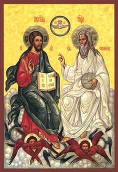 icon of the Holy Trinity | lovely yet uncanonical icon of the most holy trinity