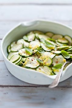Marinated zucchini salad from Tartelette