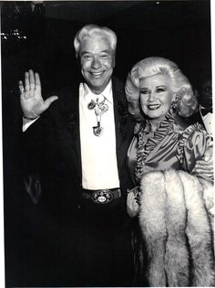 Ginger Rogers and Monty Hale at the Friar's Club tribute to Marvin Davis Beverly Hilton Hotel March 1982 A Fine Romance, Fred And Ginger, Ginger Rogers, Beverly Hilton, Fred Astaire, The Darkest, Virginia, Dancing, March