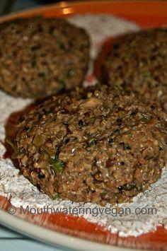 Mushroom Walnut & Spicy Quinoa Burger (With A Smoky Tomatoed Pineapple Salsa)