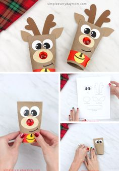 This Rudolph activity is a fun toilet paper roll craft for kids to make this Christmas! Its simple and comes with a free printable template. This easy kids craft is great for preschool, kindergarten and elementary children. Preschool Christmas Crafts, Santa Crafts, Reindeer Craft, Christmas Crafts For Kids To Make, Christmas Tree Crafts, Classroom Crafts, Fun Crafts For Kids, Craft Activities For Kids, Kids Christmas