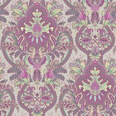 Shop allen + roth Fuchsia/Seafoam Strippable Non-Woven Prepasted Classic Wallpaper at Lowes.com