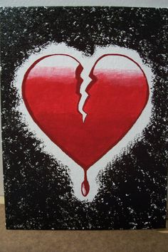 another acrylic painting Bleeding Broken Heart Broken Heart Drawings, Broken Heart Pictures, Broken Heart Tattoo, Broken Heart Quotes, Shattered Heart, Mother Art, Heart Painting, Heart Day, Photo Heart