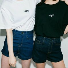 Best Friend Shirt - BFF Shirt - Best Friend Gift - Day and Night Tops - Couple Top - Twins Top - Black Shirt - White Shirt ▲Day and Night Bestie Shirt▲ * Unisex Sizing: Please Refer to Size Chart Image Ladies should order one (1) size down if you prefer a slimmer fit. * 100% Combed and Ring-Spun Cotton * Beautifully Printed in White/Black Textile Inks * Super Soft High-Quality Unisex T-shirt * Minimal Style Packaging w/ Surprising Details * Made in the USA ---------------------...