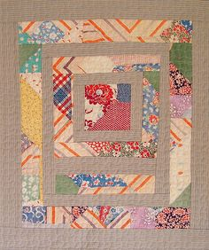 BooDilly's recycled quilt made from old quilt parts --- fabulous idea