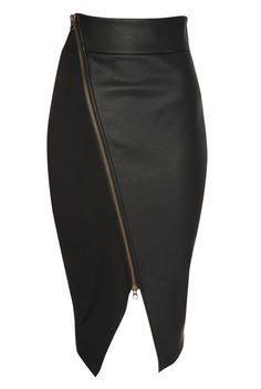 Skirt zip front Black