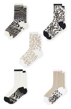 Primark - Socken mit Tiermuster, 5 Paar