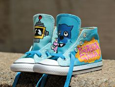 9d0a736adc6c4c Amazing Fun Yo Gabba Gabba Birthday Shoe Boys Girls Toddler Size Converse  Custom Kids