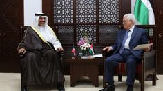 Kuwaiti foreign minister makes landmark Ramallah visitVisit, intended to boost ties, is first by a senior official from the Gulf state to the West Bank since 1967 Palestinian Authority President Mahmoud Abbas, right, meets with Kuwaiti Foreign Minister Sheikh Sabah al-Khaled al-Sabah on September 14, 2014 in Ramallah. (photo credit: AFP/ABBAS MOMANI)