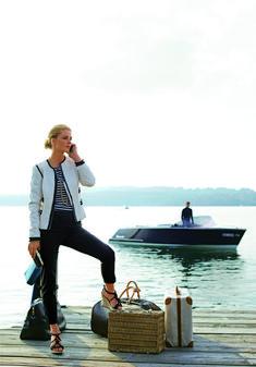 Burda Pattern Chanel Jacket is calling! Miuccia Prada, Travel Chic, Travel Style, Jet Set, Yachting Club, Burda Style Magazine, Collarless Jacket, One Step, Burda Patterns
