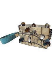 Jardin Large Evening Wrist Box Bag from Perez Sanz Online Trunk Show  on Taigan