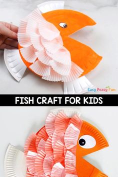 Paper Plate Crafts For Kids, Animal Crafts For Kids, Summer Crafts For Kids, Craft Activities For Kids, Spring Crafts, Toddler Crafts, Art For Kids, Craft Kids, Kids Beach Crafts