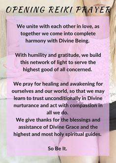 Reiki Healing – I use this prayer before each session. Reiki: Amazing Secret Discovered by Middle-Aged Construction Worker Releases Healing Energy Through The Palm of His Hands… Cures Diseases and Ailments Just By Touching Them… And Even Heals People Over Reiki Meditation, Simbolos Do Reiki, Chakras Reiki, Usui Reiki, Reiki Room, Learn Reiki, Reiki Healer, Meditation Music, Reiki Chakra
