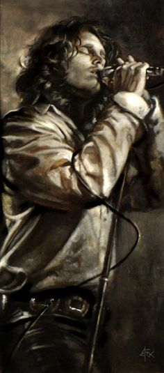 Absolutely love this painting of Jim Morrison by Brian Fox. It would look wonderful hanging on my wall.