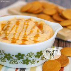 Pumpkin Pie in dip form! Pumpkin Pie Dip!! This is the absolute best thing ever. I could eat the entire bowl!!!