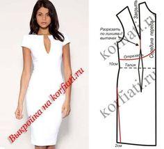 Элегантно, красиво, безупречно! Сколько еще эпитетов можно подобрать, чтобы описать это платье! Но самое главное - великолепная выкройка платья бесплатно...