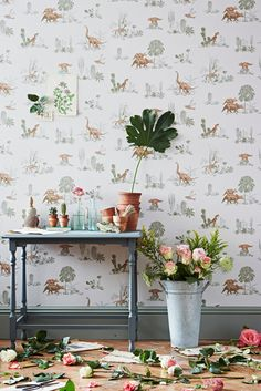 This designer draws on her international upbringing to create enchanting, immersive, and thoroughly modern wallpaper that's kid and adult-friendly.