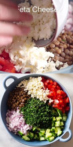 Lentil Salad Recipes, Healthy Salad Recipes, Healthy Snacks, Healthy Eating, Thai Curry Recipes, Healthy Broccoli Salad, Clean Eating Vegetarian, Vegetarian Meal Prep, Keto Snacks