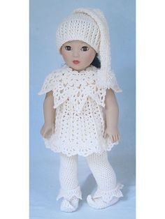 Santa's Lit'l Elves Crochet Pattern ~ same pattern as one I just pinned....how very different when done monochromatic!