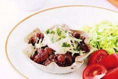 Mexican bean & beef tortilla pies main image