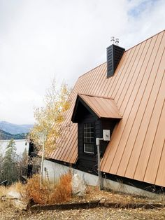 Our Freshly Painted Black A-Frame (Chris Loves Julia) Exterior House Colors, Exterior Design, A Frame House Plans, Barn Parties, Copper Roof, Schaefer, Lake Cabins, Rustic Chandelier, Country Style Homes