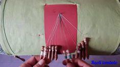 Merletto a Tombolo - Lavorazione a cordoncino e a treccia con filo color...