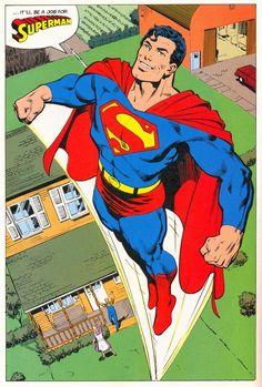 "Man of Steel #1, page 32 by John Byrne & Dick Giordano & Tom Ziuko. 1986. """