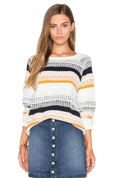 1ddb294d67 Tularosa Cheyenne Knit Pullover in Mixed Stripe