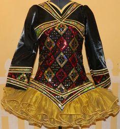 Gorgeous #Irish_Dance solo dress @  lewisirishdresses.com