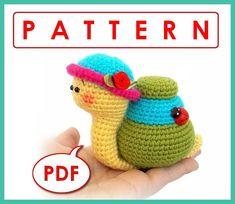 Natalie the Snail Crochet toy Amigurumi pattern PDF