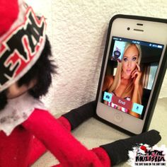 Naughty elf on the shelf. Facetime with Metal Mulisha Maiden Ashley Twomey. Inappropriate elf on the shelf