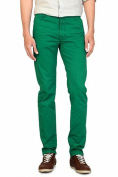 Allen Solly-Mens Flat Front Custom Fit Colored Trouser