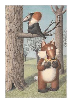 Exceptional Illustrations of Izabela Kowalska-Wieczorek Smiling Cat, Crow, Teddy Bear, Cartoon, Animals, Illustrations, Humor, Raven, Animales