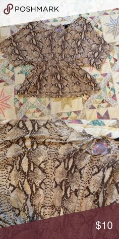 H&M Snake pattern blouse Perfect for the office or a night out! H&M Tops Blouses