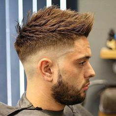 High Razor Fade + Spiky Faux Hawk + Beard