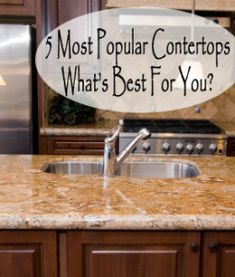5 Most Popular Countertops. What's best for you - kitchen countertop comparison Kitchen Redo, Kitchen Dining, Kitchen Remodel, Kitchen Ideas, Kitchen Makeovers, Kitchen Designs, Outdoor Kitchen Countertops, Countertop Options, Granite Countertops