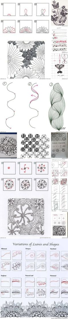 Zentangle Tutorial                                                       …