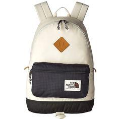 The North Face Berkeley Backpack (Asphalt Grey/Vintage White) Backpack... ($65) ❤ liked on Polyvore featuring bags, backpacks, shoulder strap backpack, polyester backpack, strap bag, day pack backpack and the north face bag