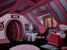 rabbits house interior