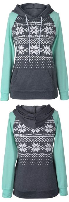 Hot Sale at $22.99! If you haven\'t notice snow printing and drawstring hoodie design are super hot trendy and we are totally on board! Hit more heated pieces at Cupshe.com !
