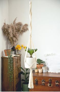 Paper Roll Holders, Paper Towel Holder, Tissue Paper Roll, Floating Garden, Long Walls, Interior Minimalista, Macrame Plant Hangers, Boho Bathroom, Hanging Pots