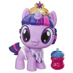 Buy Twilight Sparkle - Baby Pony Doll at Mighty Ape NZ. Cuddle and play with an adorable baby pony doll! My Baby Twilight Sparkle doll has a molded diaper and removable bib and bottle accessories. Baby Pony, My Little Pony Baby, Hasbro My Little Pony, Little Girl Toys, Toys For Girls, Kids Toys, Twilight Sparkle, Sparkle Pony, Little Poney
