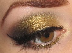 Gold Olive Dramatic Holiday Eye Makeup Look