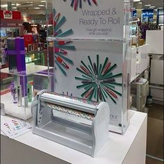 Clinique Gift Wrapped and Ready to Go is the central theme to this display promising excellence in wrapping while you wait. Clinique Gift, Ready To Roll, All Gifts, Retail, Gift Wrapping, Gift Wrapping Paper, Wrapping Gifts, Gift Packaging, Sleeve