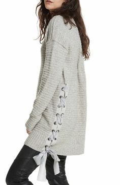 Free People Heart It Laces Sweater XS