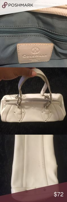 AUTHENTIC COLE HAAN POCKETBOOK Cole Haan pocketbook great for a formal dinner or church 🙏🏼 a few marks on the bottom but other then that the bag is good👍🏽I only used it once😔Check it out👌🏽 Cole Haan Bags Satchels