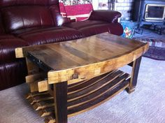 Brandy and Wine. Tips To Help You Choose A Good Bottle Of Wine. Whiskey Barrel Decor, Wine Barrel Coffee Table, Whiskey Barrel Furniture, Wine Table, Oak Coffee Table, Coffee Wine, Bourbon Barrel, Whiskey Barrels, Wine Barrel Crafts